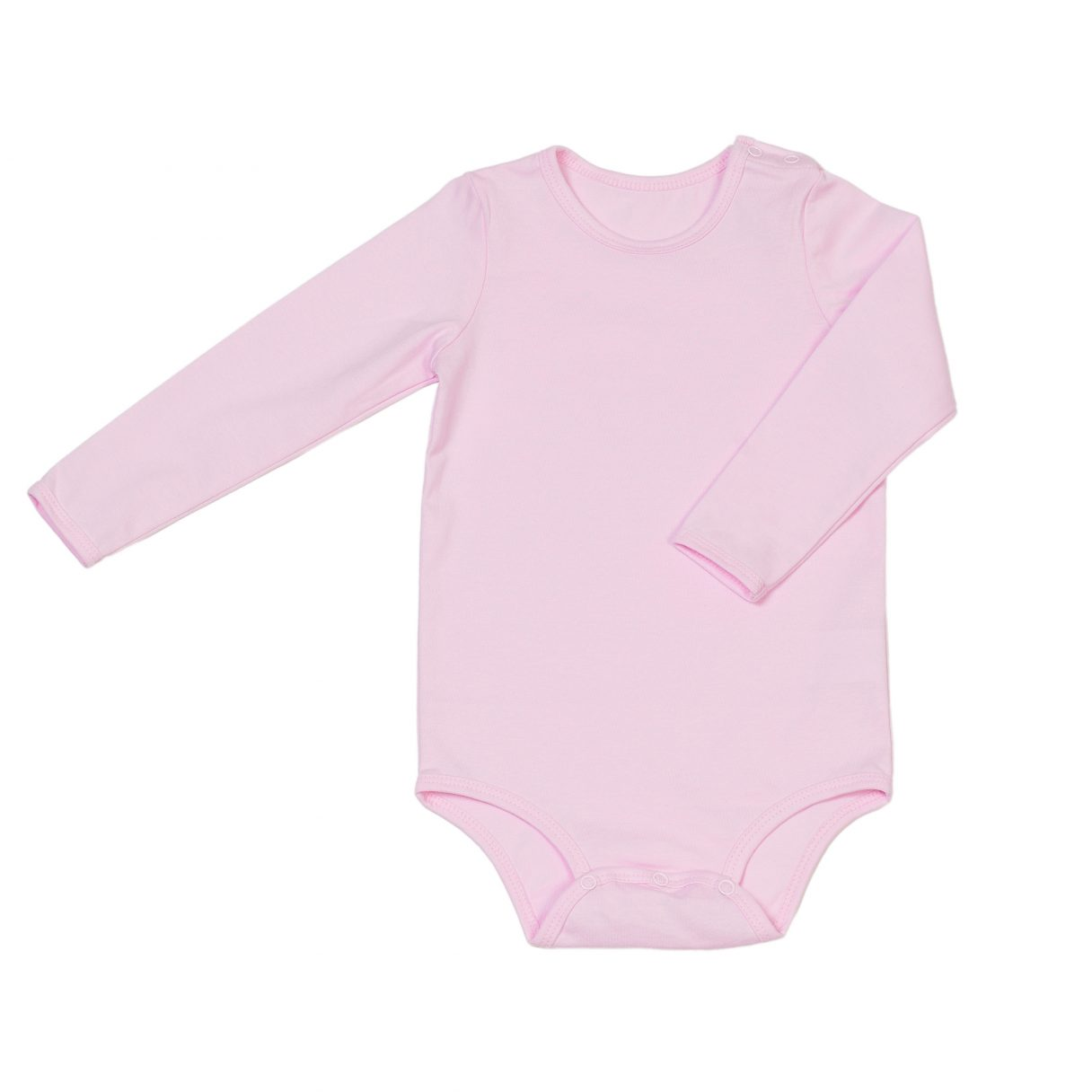 Organic cotton baby bodysuit pink