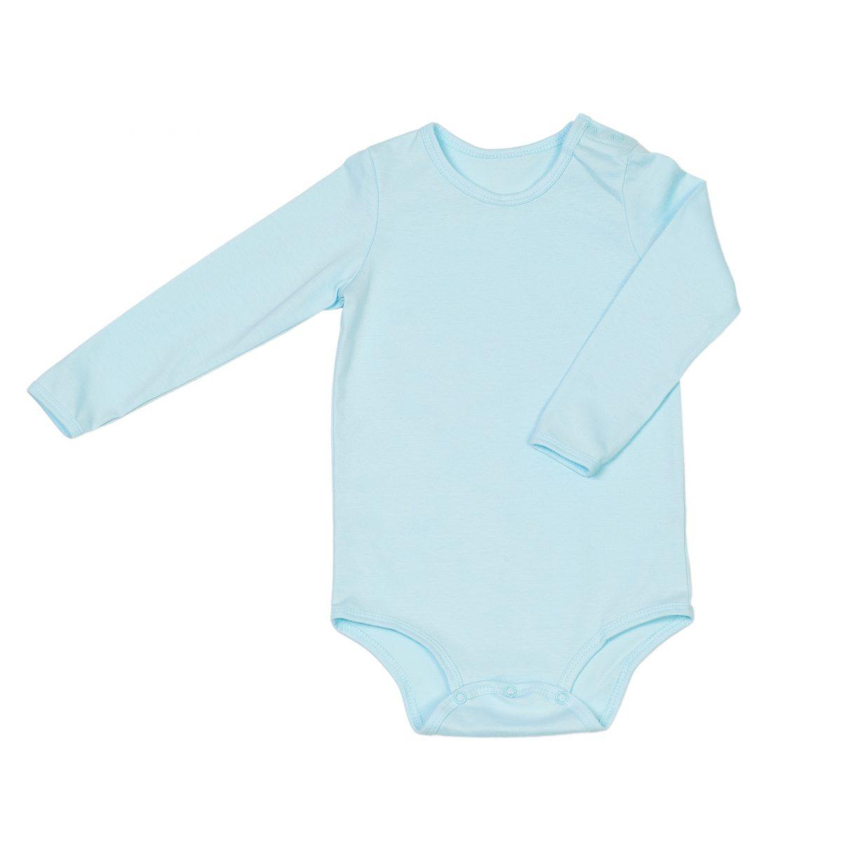 Organic cotton baby bodysuit turquoise