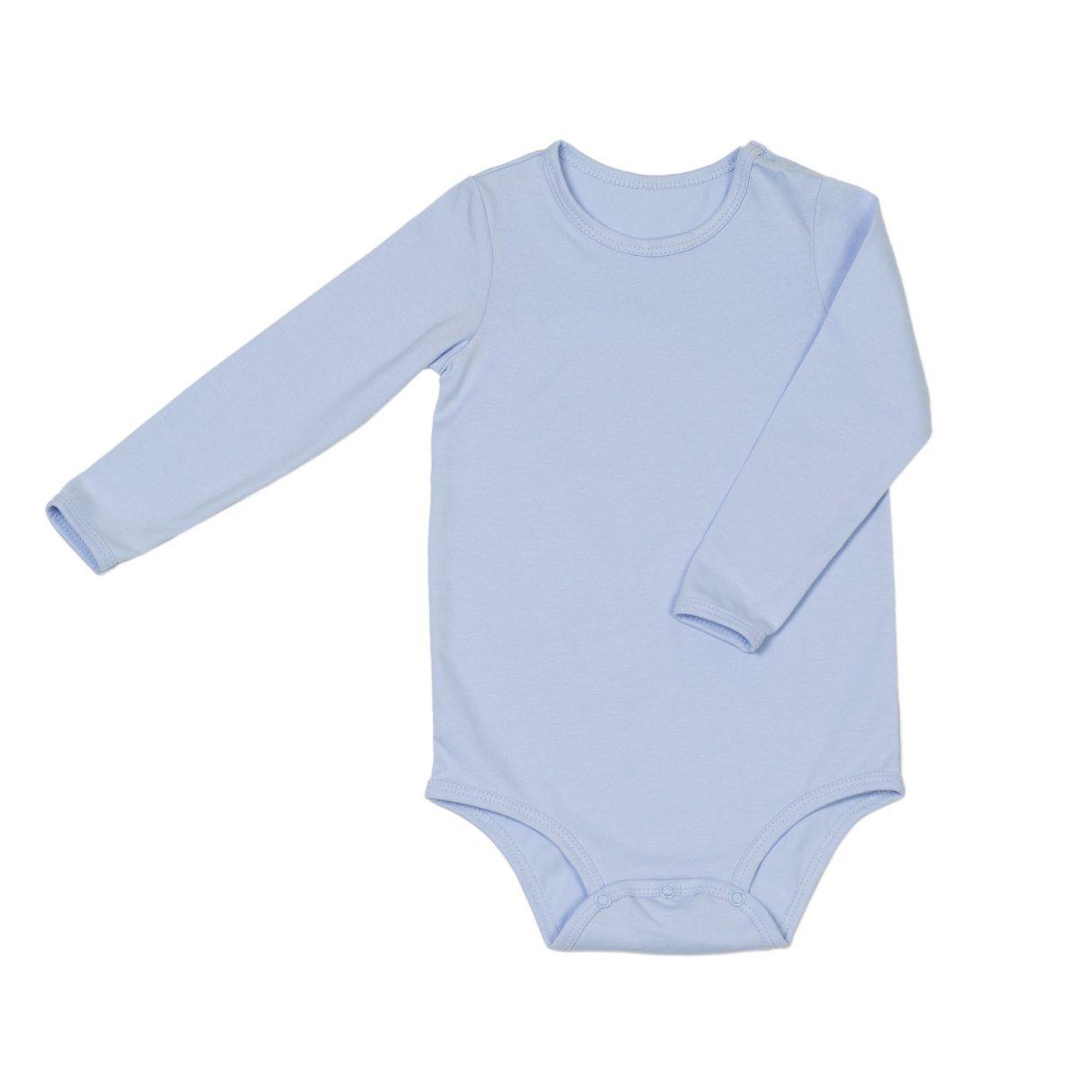 Organic cotton baby bodysuit blue