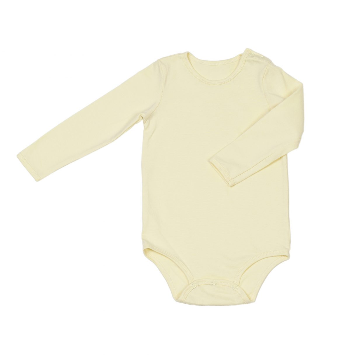 Organic cotton baby bodysuit yellow