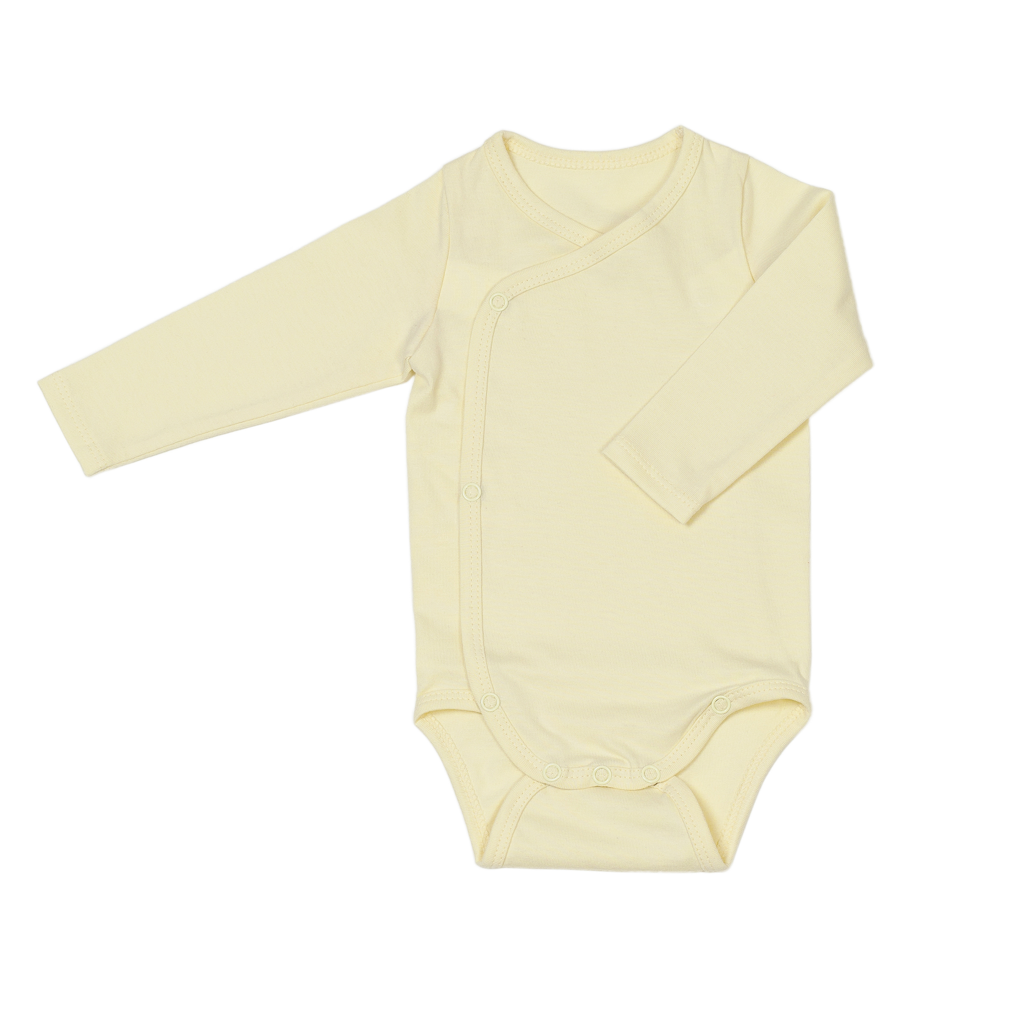 Newborn organic cotton baby bodysuit yellow