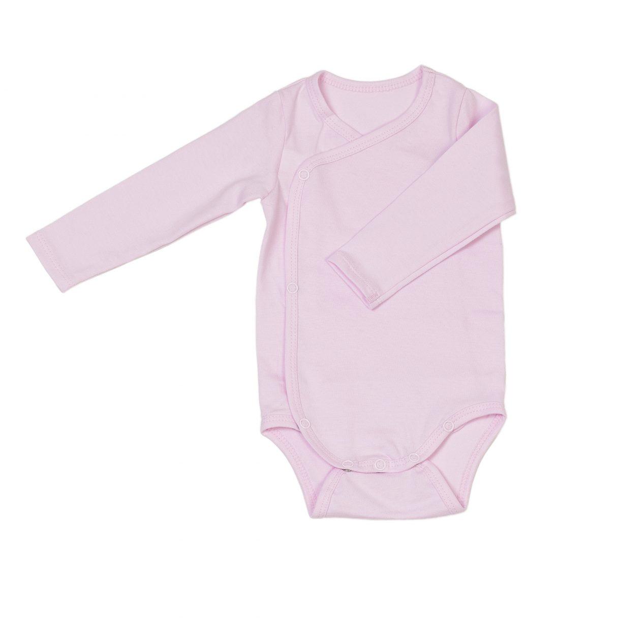 Newborn organic cotton baby bodysuit pink