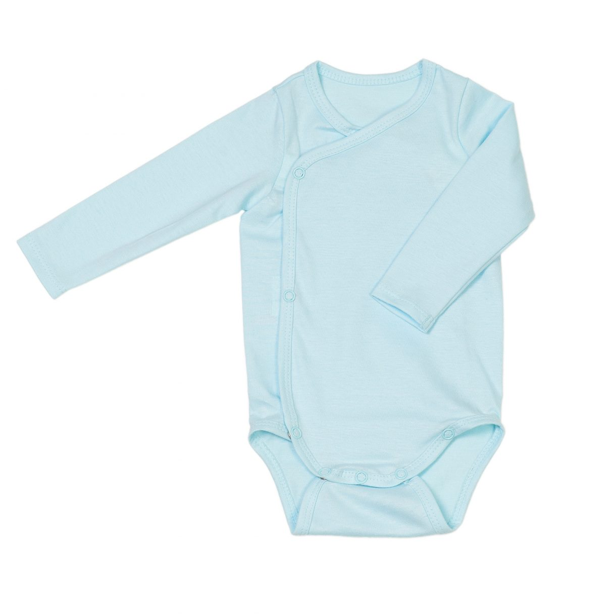 Newborn organic cotton baby bodysuit turquoise