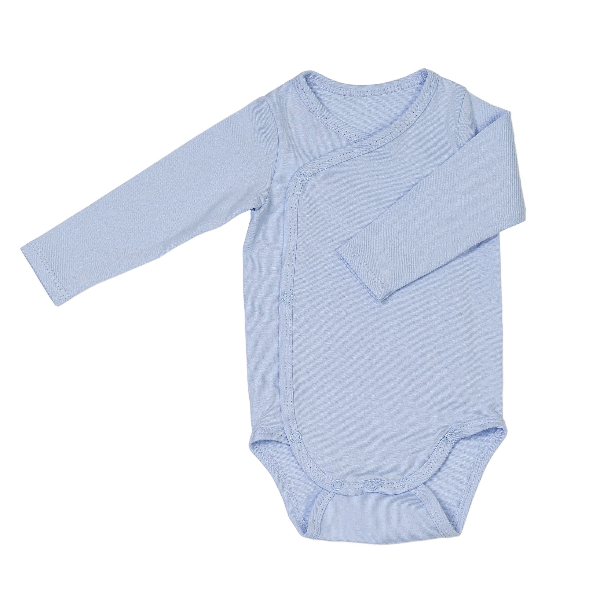 Newborn organic cotton baby bodysuit blue