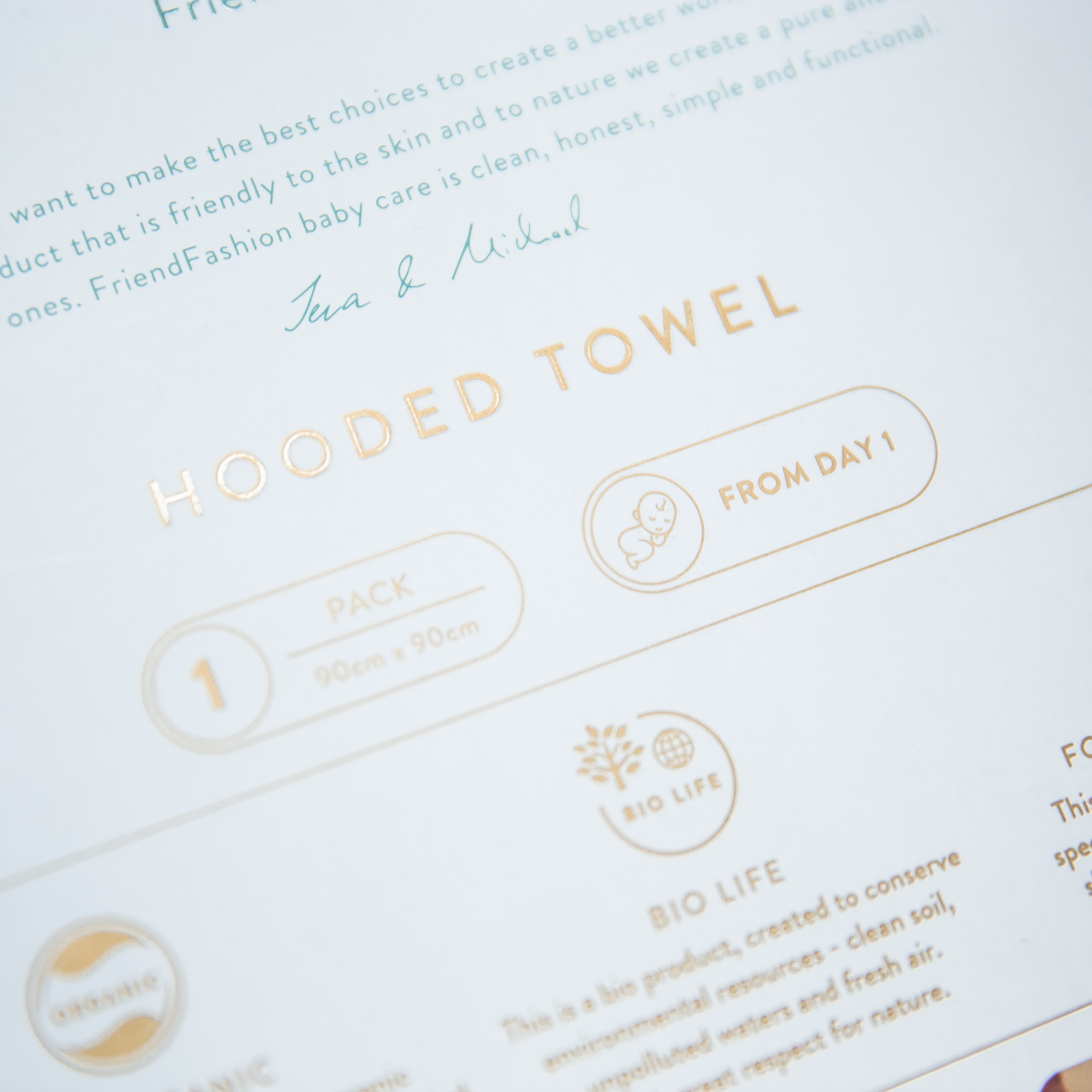 Perfect gift: Baby hooded towel in a beautiful packaging