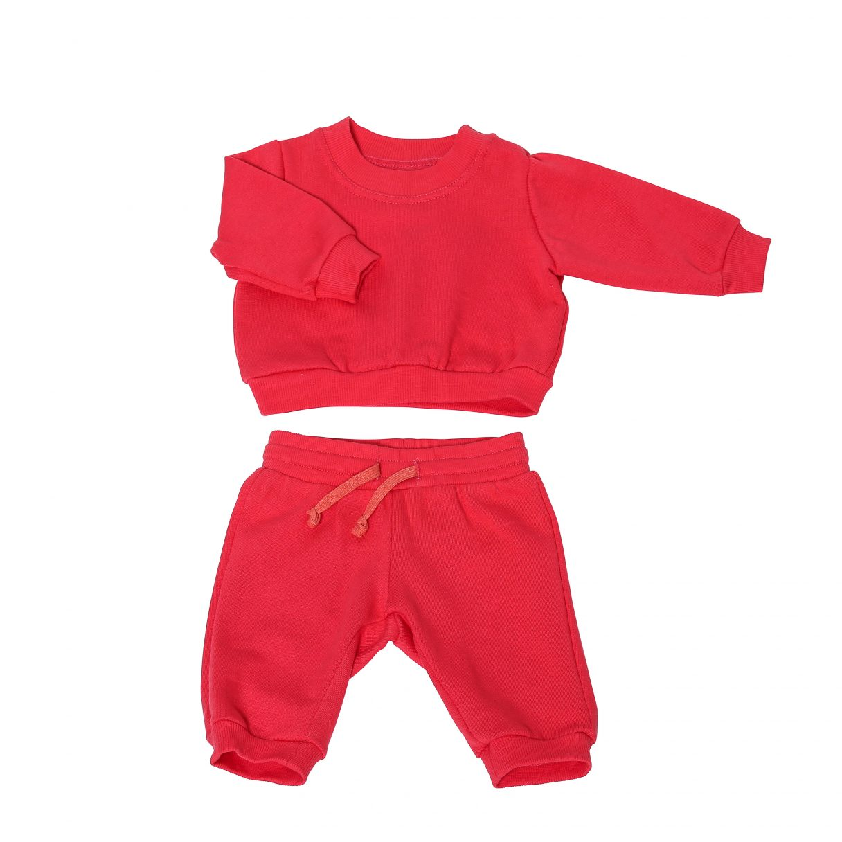 Baby Sweatsuit Organic Cotton Red 2