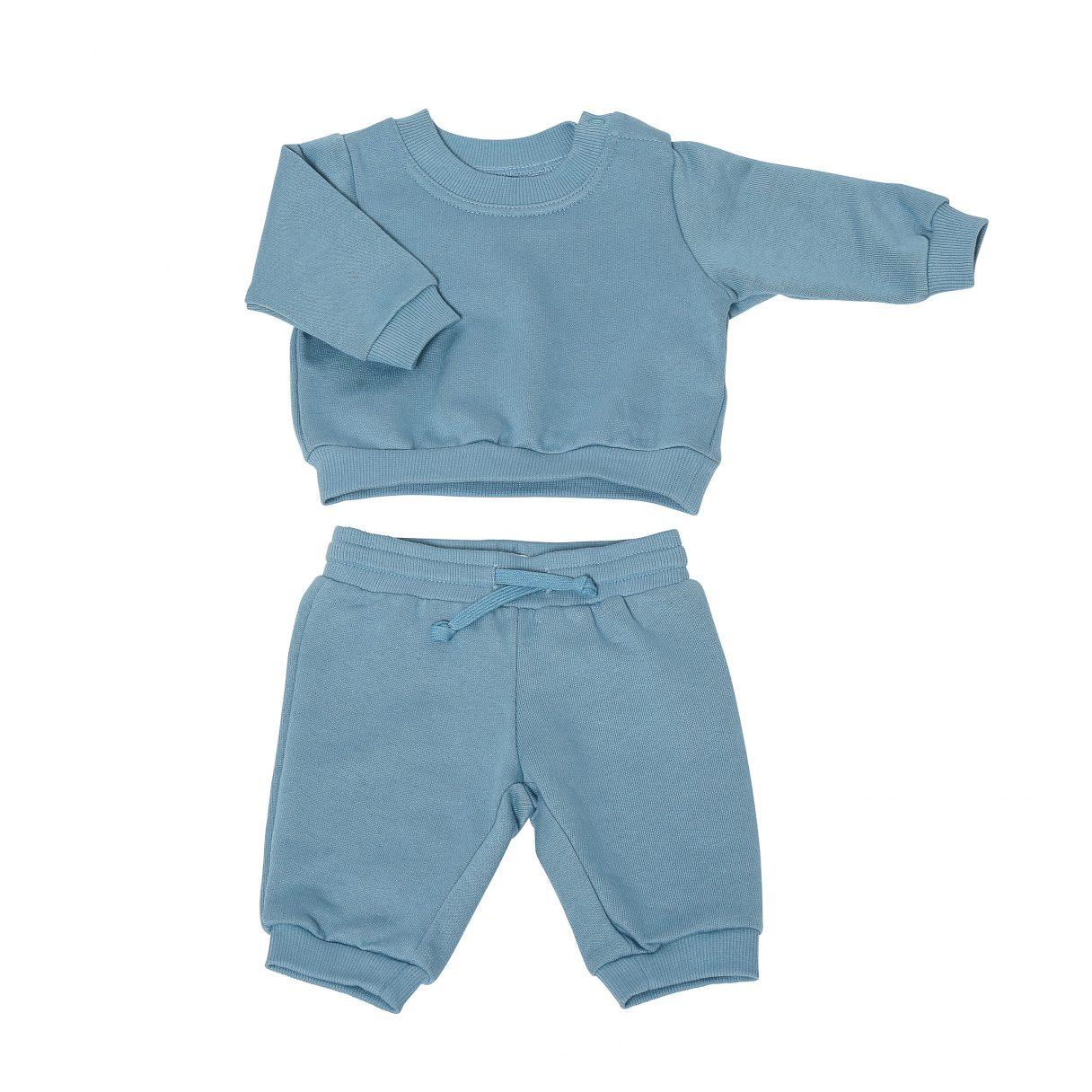 Baby Sweatsuit Organic Cotton Blue 2