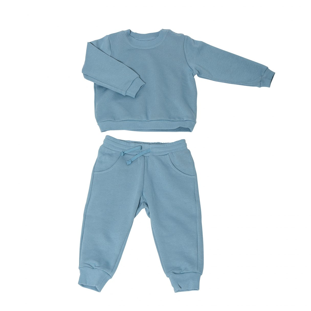 Baby Sweatsuit Organic Cotton Blue 1