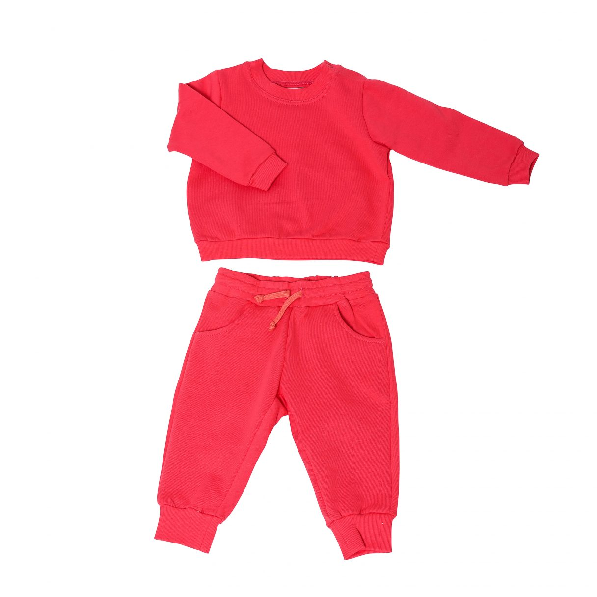 Baby Sweatsuit Organic Cotton Red 1