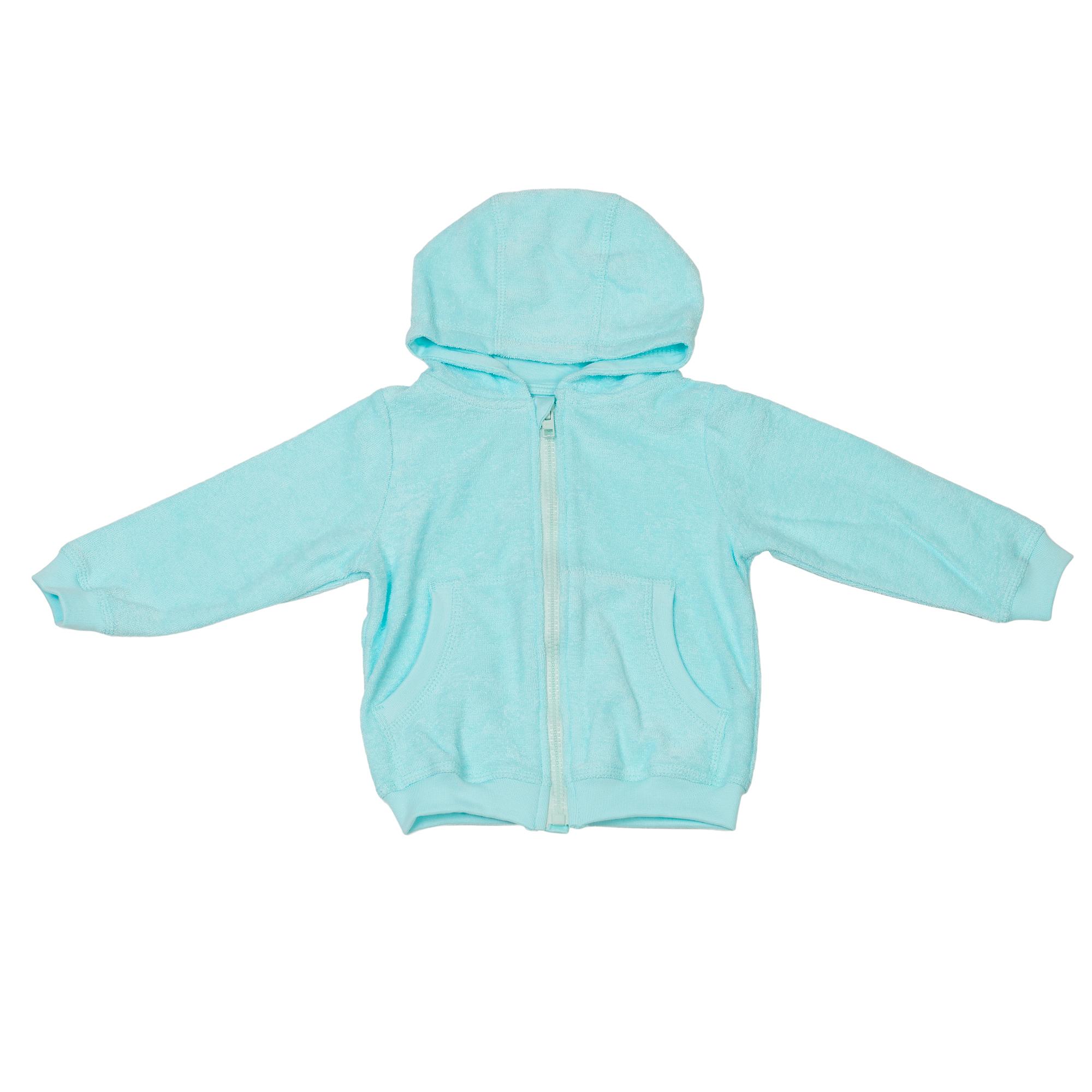 Baby Hooded Jacket Organic Cotton Turquoise