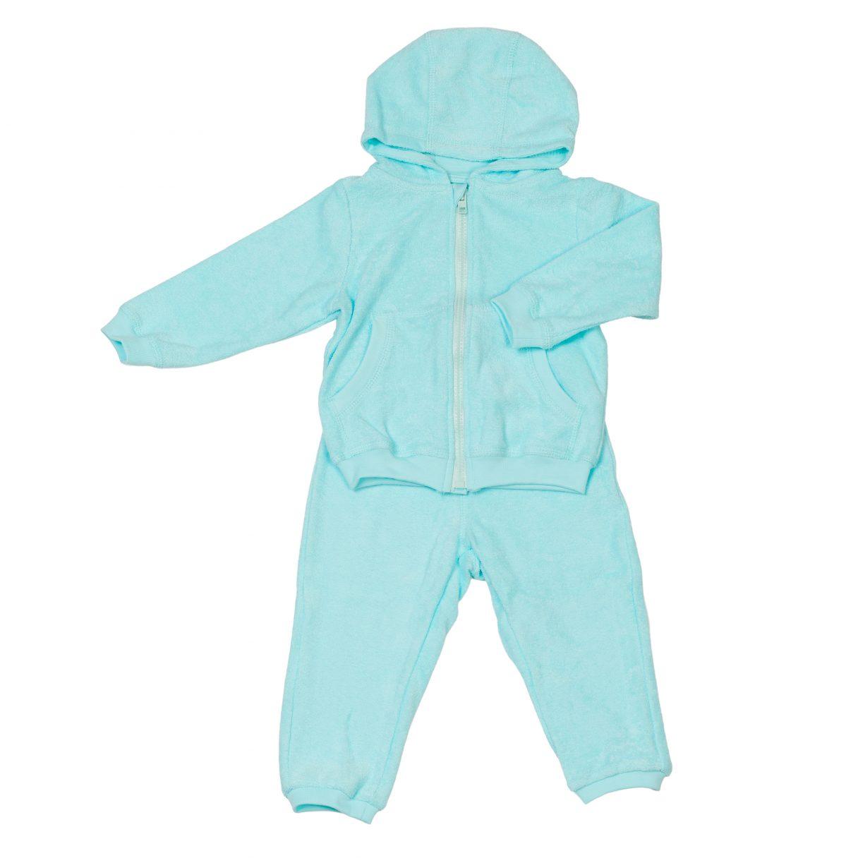 Baby Sweatsuit Organic Cotton Turquoise