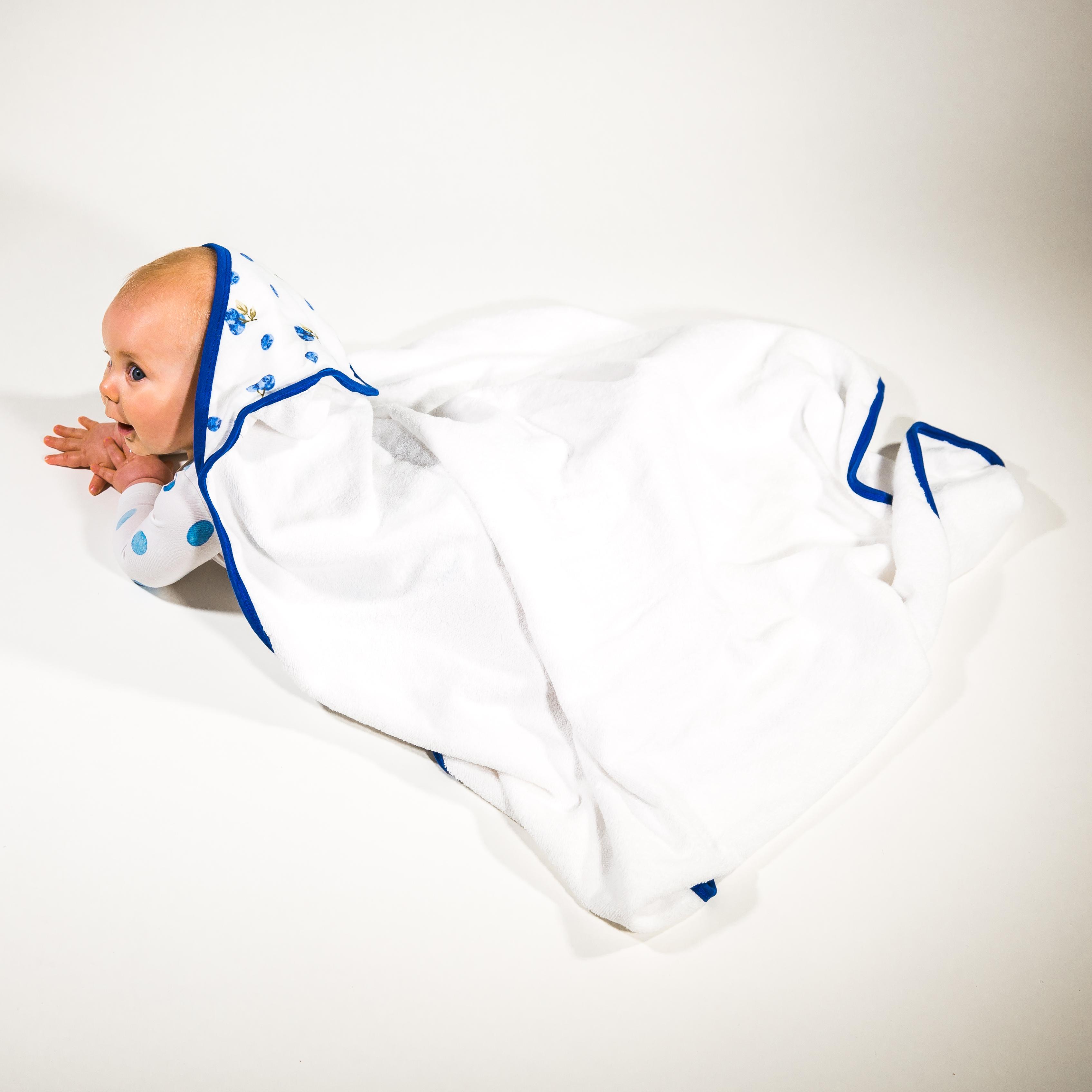 Baby Hooded Towel Blueberries