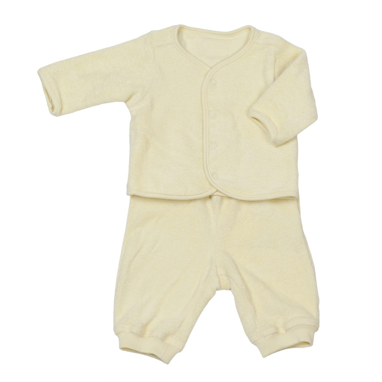 Baby Organic Cotton Sweatsuit Yellow