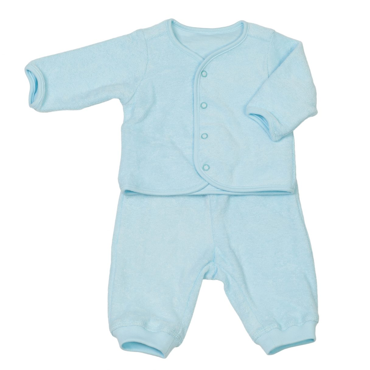 Baby Organic Cotton Sweatsuit Turquoise