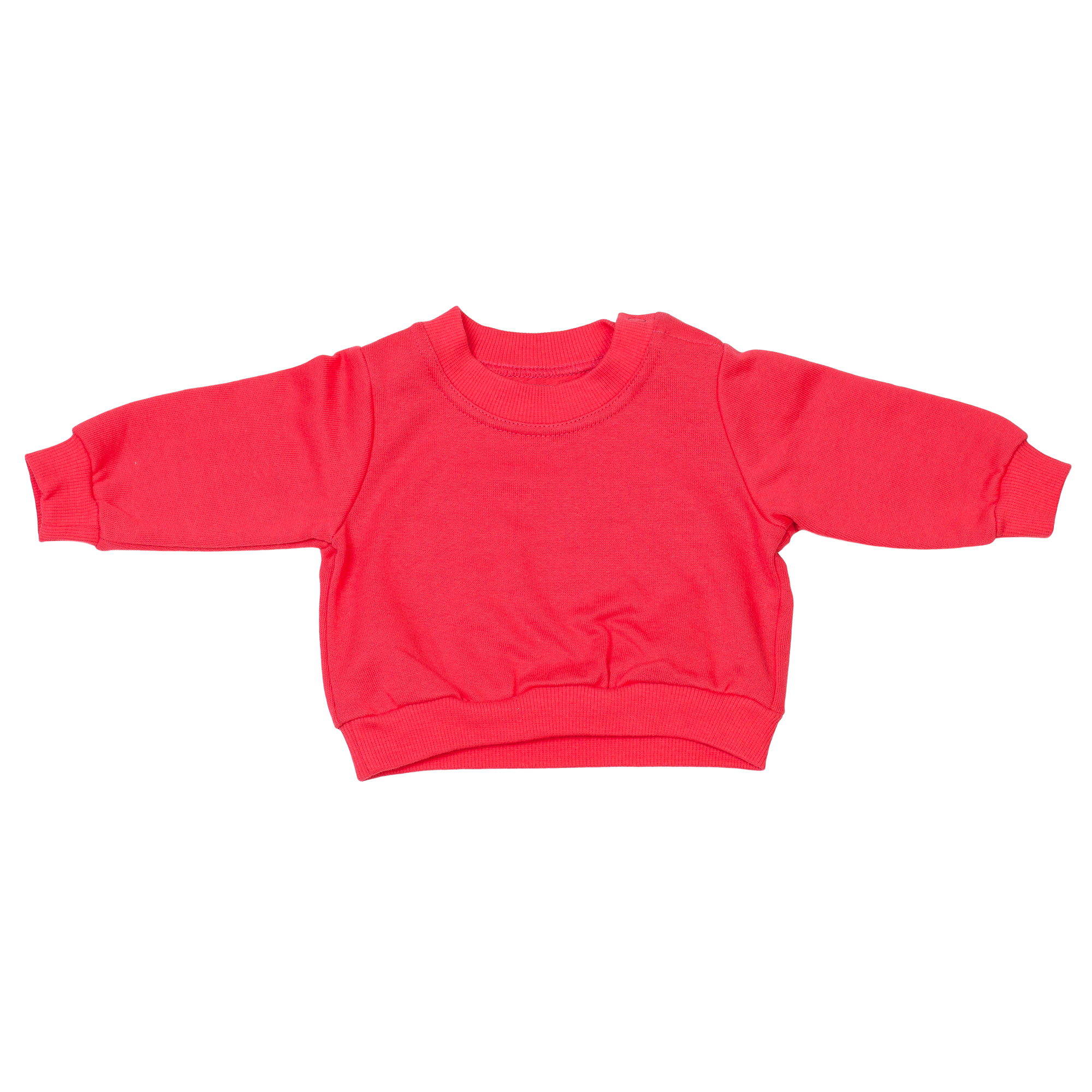 Baby Pullover Organic Cotton Red 1