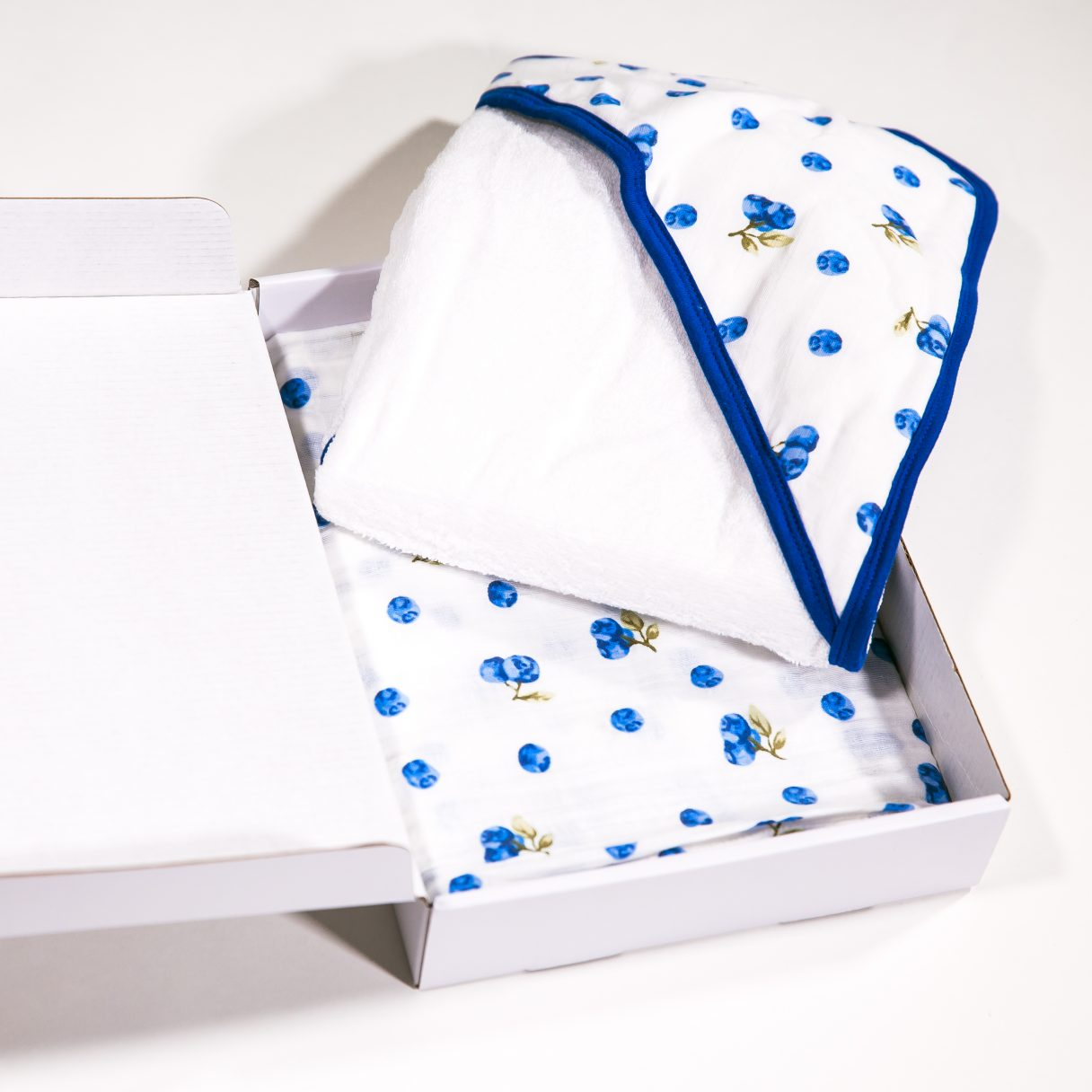 Set of Towel and Swaddle Blueberries